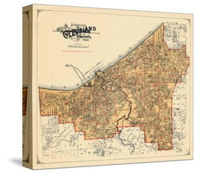 Cleveland Canvas Posters And Prints At Artcom - Cleveland ohio on us map