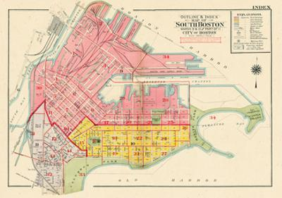 Maps Of Massachusetts Posters And Prints At Artcom - Boston massachusetts us map
