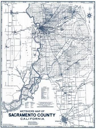 Sacramento Posters And Prints At Artcom - Us map sacramento