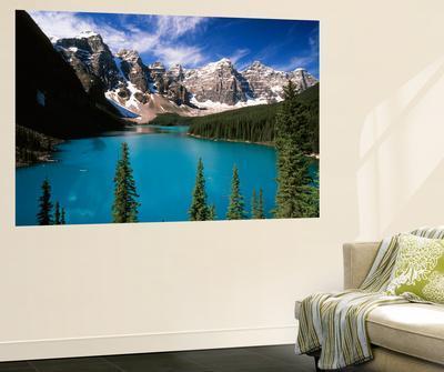 wenkchemna peaks reflected in moraine lake banff national park alberta canadaadam jones wall mural from