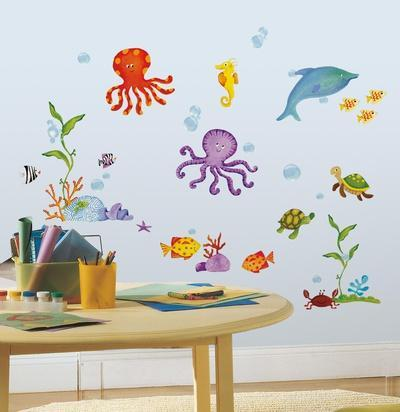 Superbe Adventures Under The Sea Peel U0026 Stick Wall Decals