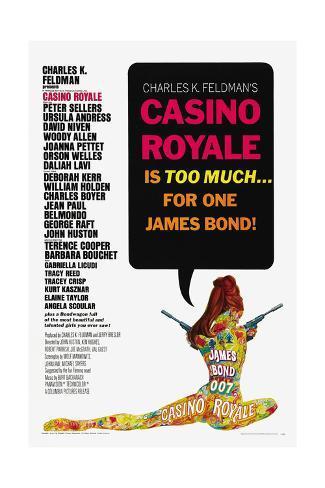007, James Bond: Casino Royale,1967 Reproduction procédé giclée