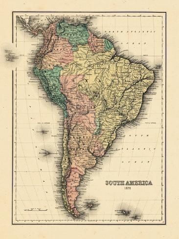 1780, South America Reproduction procédé giclée