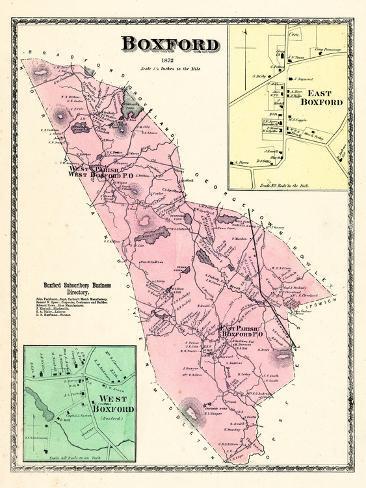 1872, Boxford, East Boxford, West Boxford, Massachusetts, United States Reproduction procédé giclée
