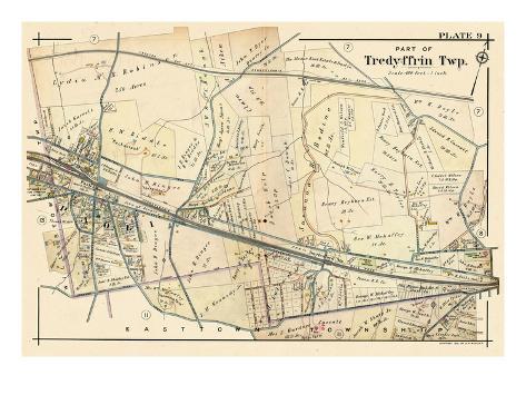 1912, Paoli - Tredyffrin Township, Pennsylvania, United States Reproduction procédé giclée