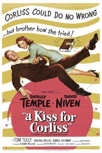 A Kiss for Corliss Reproduction d'art