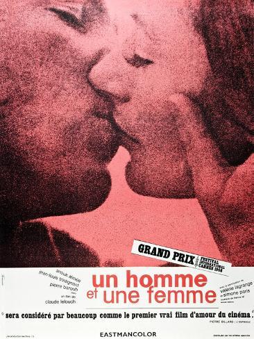 A Man and a Woman (aka Un Homme et une Femme) Reproduction d'art