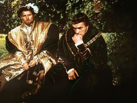 A Man For All Seasons, Robert Shaw, Paul Scofield, 1966 Photographie