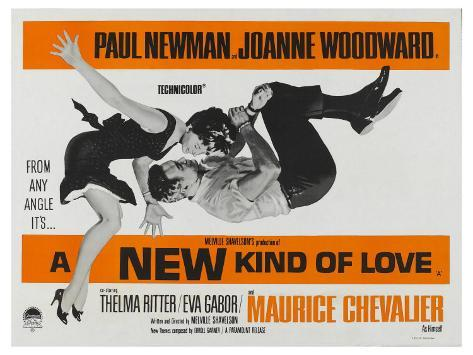 A New Kind of Love, UK Movie Poster, 1963 Affiche montée sur bois