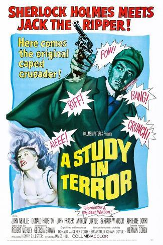 A Study in Terror Reproduction d'art