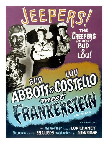 Abbott And Costello Meet Frankenstein, 1948 Photographie