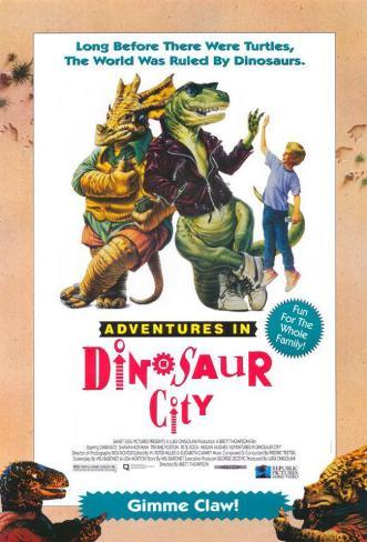 Adventures in Dinosaur City Affiche originale