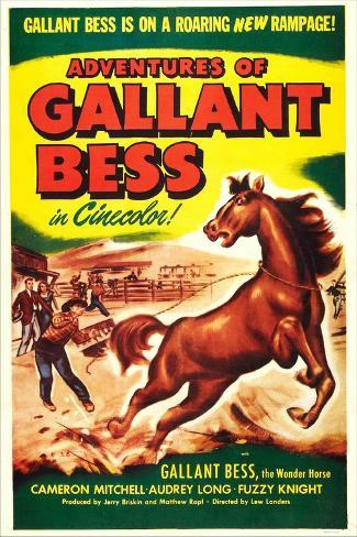 Adventures of Gallant Bess Reproduction d'art