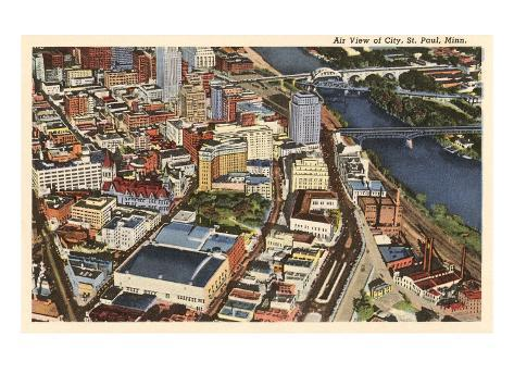 Aerial View, St. Paul, Minnesota Reproduction d'art