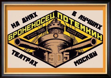 Battleship Potemkin 1905 Affiche encadrée