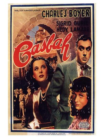 Algiers, Belgian Movie Poster, 1938 Reproduction d'art