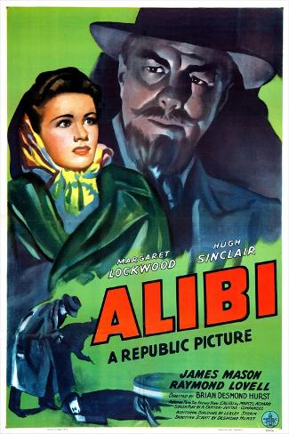 Alibi, Margaret Lockwood, Hugh Sinclair, 1942 Reproduction d'art
