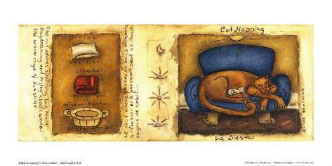 Cat Napping Reproduction d'art