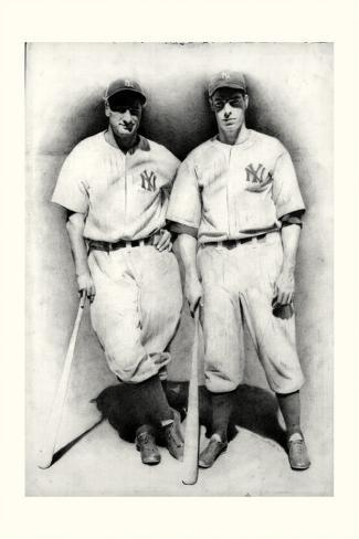 Dimaggio and Gehrig Toile tendue sur châssis