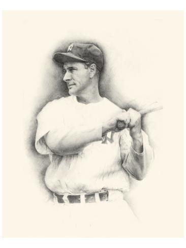 Lou Gehrig Reproduction giclée Premium