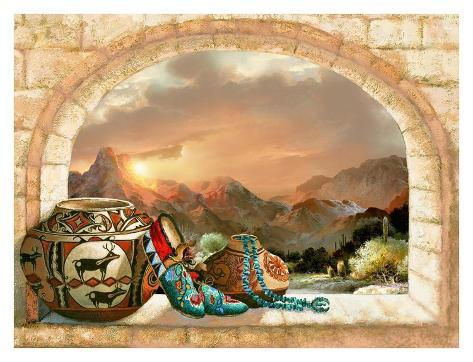 Pottery Arch Reproduction d'art