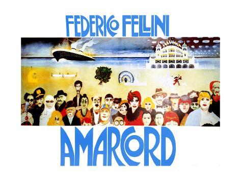 Amarcord, 1973 Reproduction procédé giclée