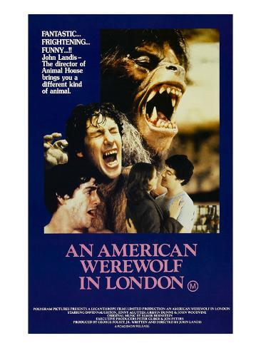 An American Werewolf In London, David Naughton, Jenny Agutter, David Naughton, 1981 Photographie