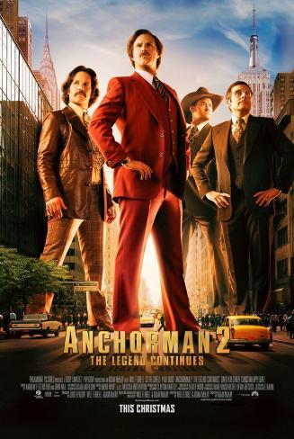 Anchorman 2: The Legend Continues - Will Ferrell, Steve Carrell Affiche double face