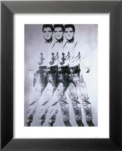 Elvis, 1963 (triple Elvis) Reproduction d'art en laminé encadrée