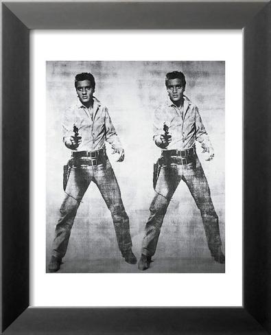 Elvis - 1963 Reproduction d'art en laminé encadrée