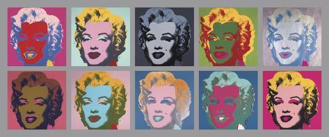 Les 10 Marilyn, 1967 Reproduction d'art