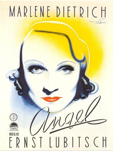 Angel, Dutch Movie Poster, 1937 Reproduction d'art