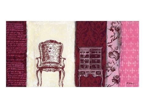 Secretary & Velvet Reproduction d'art