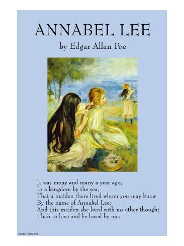 Annabel Lee Reproduction d'art