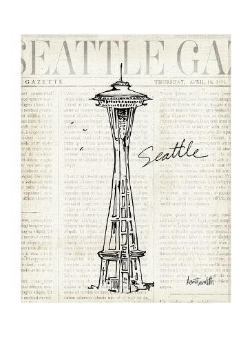 City Sketches VI Seattle Reproduction d'art