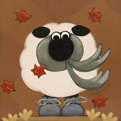 A Sheep in Fall Clothing Reproduction procédé giclée