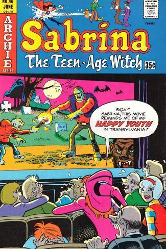 Archie Comics Retro: Sabrina The Teenage Witch Comic Book Cover No.46 (Aged) Autre