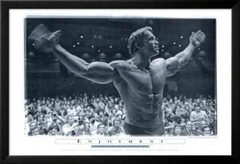 Arnold le Magnifique Poster en laminé encadré
