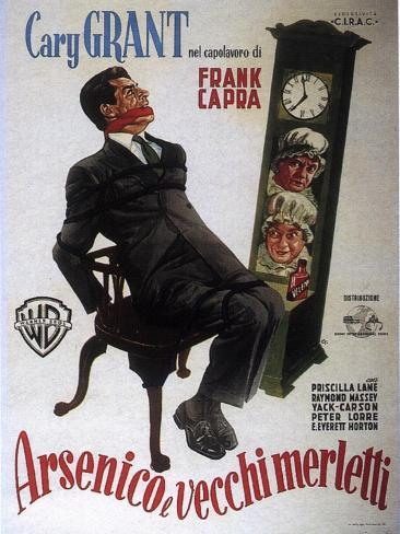 Arsenic and Old Lace, Italian Movie Poster, 1944 Reproduction d'art