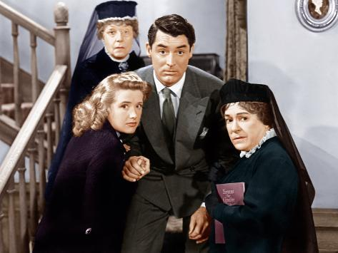 Arsenic And Old Lace, Priscilla Lane, Jean Adair, Cary Grant, Josephine Hull Photographie