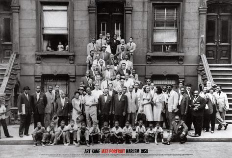 Portrait de jazz - Harlem, New York, 1958 Reproduction d'art