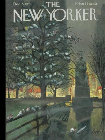 The New Yorker Cover - December 5, 1959 Reproduction giclée Premium