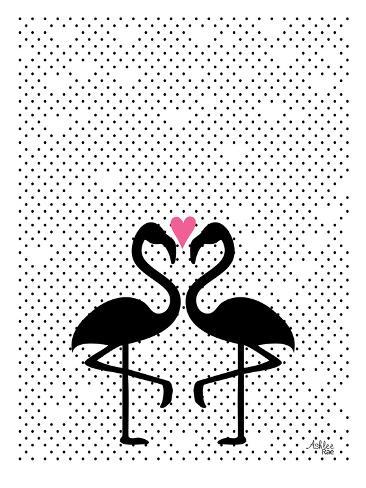 Flamingo Love Reproduction d'art