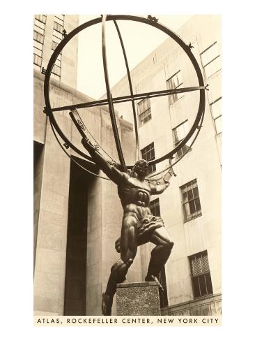 Atlas Statue, Rockefeller Center,  New York City Reproduction d'art