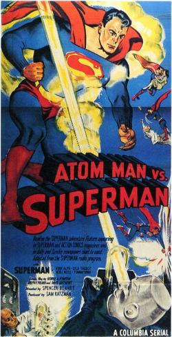 Atom Man contre Superman|Atom Man Vs. Superman Affiche originale