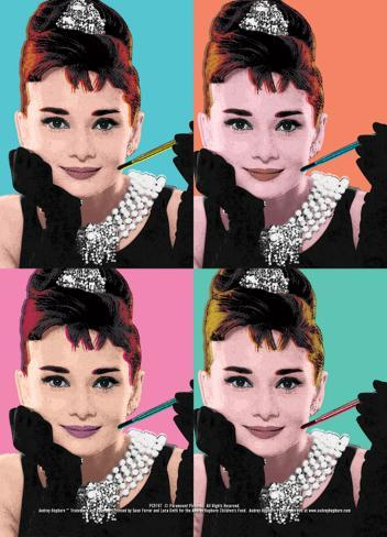 Audrey Hepburn (Pop Art) Affiche format carte