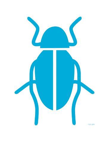 Blue Bug Reproduction giclée Premium