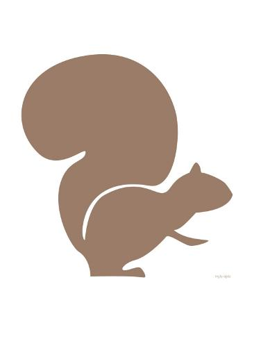 Brown Squirrel Reproduction d'art