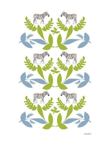 Green Zebra Wilderness Reproduction d'art