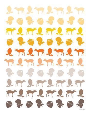 Orange Forest Reproduction giclée Premium